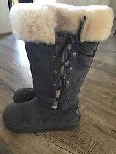 Ugg Boots Gray Lace Up, Never Worn