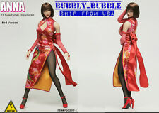 1/6 Tekken ANNA WILLIAMS Head Sculpt Dress Set For Hot Toys Phicen SHIP FROM USA