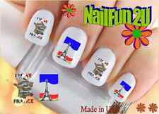 "RTG Set#523 COUNTRIES ""France 1"" WaterSlide Decals Nail Art Transfers Salon"