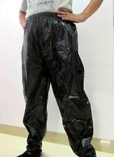 Shiny glänzendem Nylon Wet-Look Jogging Sport Hosen Trainingshosen Pants Black