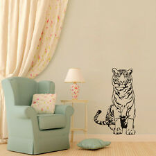 Tiger Sitting On Floor Wall Sticker Home Sofa Background Vinyl Decal Room Decor