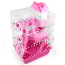 New Pink Large Gorgeous Hamster Mouse Cage 3 Tiers Storey Fantasia Hamster Cage