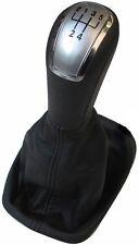 SKODA Fabia I MK1 99-07 Gear Shift perilla de plata de 5 velocidades de palo 6Y0711113H