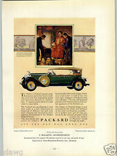 1927 PAPER AD Packard Motor Car Auto Commercial Printing Award Winner