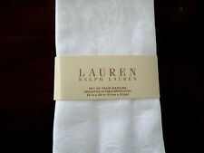 New Ralph Lauren Paisley White Napkins 4pc