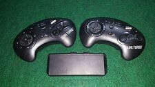 Sega Genesis Akklaim Dual Turbo Wireless Controllers W/ Reciever