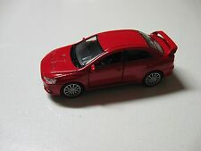 1:38 SCALE WELLY MITSUBISHI LANCER EVOLUTION X DIECAST PULLBACK W/O BOX