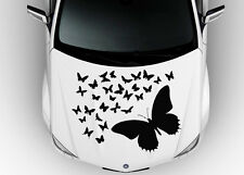 Car Hood Vinyl Decal Graphics Stickers Art Different Butterflies Flying KJ1743