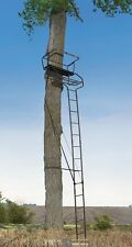 NEW 18' XL 2 Person Hunting Ladder Tree Stand w/ Seat Cushion + 2 Safety Harness