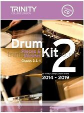 Trinity Guildhall Drum Kit 2 Book +CD 2014-2019. Pieces & Exercises Grades 3 & 4