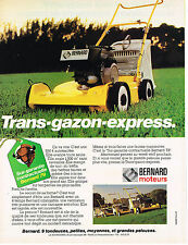 PUBLICITE ADVERTISING 094  1979  BERNARD moteurs  trans-gazon BM4 autotractée