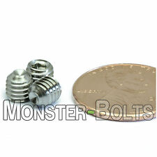 M5 x 5mm - Qty 10 - DIN 916 CUP Point Socket Head Set Screw Stainless Steel A2