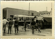 PHOTO ANCIENNE - VINTAGE SNAPSHOT - BUS AUTOCAR CAMION INONDATIONS - FLOOD TRUCK