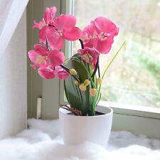 LED Orchidée Illuminé Batterie Pot de fleurs Plantes artificielles 60cm