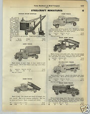 1930 PAPER AD Steelcraft Toys Marion Steam Shovel Army Dump Truck City Ice Mack