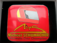 PIN ANSTECKNADEL HELM HELMET DESIGN SCHUMACHER F1 WELTMEISTER WORLD CHAMPION OVP