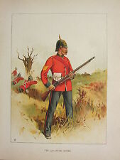 1905 ANTIQUE MILITARY PRINT ~ 35th ROYAL SUSSEX ~ BRITISH IMPERIAL FORCES