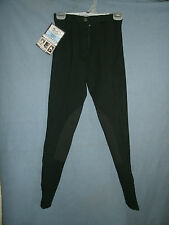 Ladies New Size 24-L Black Tough 1 Comfort Riders Euro Style Riding Breeches