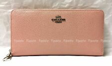 Coach 52372 Crossgrain Textured Leather Acc Zip Wallet BLUSH Pink NWT Rare!