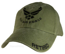 NEW USAF U.S. Air Force Retired Baseball cap hat. Green. 6370.