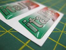 2 Italjet Domed stickers with Gradient Italian Flag 50mm x 20mm