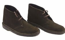 "Da UOMO ""Clarks Originals"" Marrone in Pelle Scamosciata Desert Boot Tg UK 5"