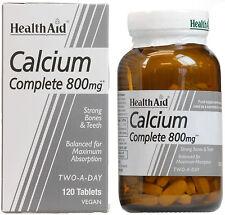 Health Aid Completo 800mg - 120 comprimidos de calcio