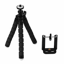 Tripod Flexible Octopus Bracket Holder Stand Moun Cell Phone iPhone Camera Black