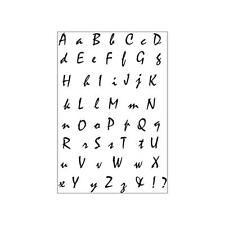 CURSIVE SCRIPT ALPHABET - KAISERCRAFT - CLEAR STAMP SET