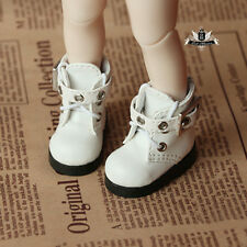 1/6 BJD Shoes Yosd White Boots Dollfie DREAM DOD SOOM MID Luts Dollmore AOD DZ