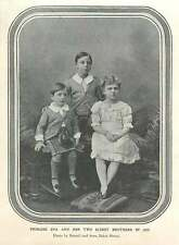 1906 Princess Ena And Her Two Eldest Brothers In 1892