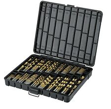 "Titanium Drill Bit Set for Metal - 230pc Kit - Coated HSS - From 1/16"" up to ..."