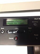 Dell MFP 1125 Mono All-In-One Laser Printer Scanner Copier Toner PARTS OR REPAIR