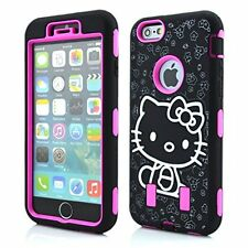 For IPhone 6 6S Plus 5.5 Hello Kitty Hybrid Shockproof Defender Style Case  HP