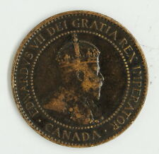 1907 H Canadian Large 1 One Cent Coin