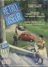 RETROVISEUR n°35 07/1991 SALMSON 2300 FORD VEDETTE VAUXHALL PRICE HENRY GNOME