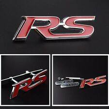 3D Metal RS Racing Front Hood Grille Badge Emblem Red RS Logo