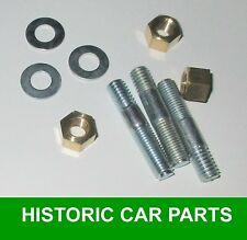 THERMOSTAT HOUSING STUDS WASHERS & BRASS NUTS for MORRIS MINOR 1000 1956-71