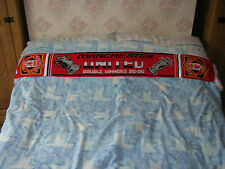 MAN UNITED FOOTBALL CLUB DOUBLE WINNERS 95-96 RED FOOTBALL SCARF NEW CONDITION