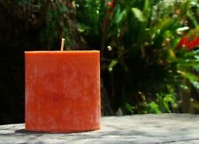 NEW ORGANIC SOY PILLAR CANDLE Marble Effect 90+hr Oval YOU CHOOSE SCENT & COLOUR