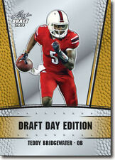 2014 LEAF DRAFT DAY EDITION GOLD VERSION VIKINGS TEDDY BRIDGEWATER RC  NM-MT