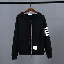 Thom Browne Black Zip-up Hoodie  Size4(XL)
