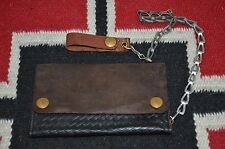 Ralph Lauren RRL Distressed Two Tone Leather Biker Chain Wallet