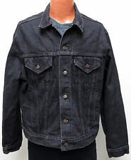 vtg Levi's BLACK Jean Jacket 80s size 48 denim trucker 70506 0259 redtab XL USA