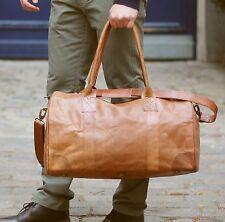 M Design Natur Leder Tasche Weekender Reisetasche Vintage Sporttasche Neu braun