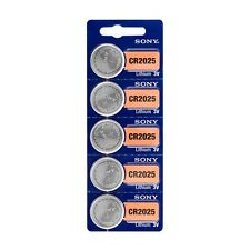 5 batteries Sony CR2025 Button Battery Lithium - 3V DLC 2025