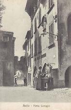 83909 ASOLO TREVISO PORTA LOREGGIA DONNA ALLA FONTANA.