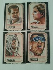 FOUR AOJ UNKNOWN SPORTS PERSONALITY SKETCH CARD CARDS PSC ACEO