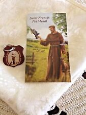 NEW SAINT FRANCIS PET MEDAL, WITH Stainless Steel Split Ring & Prayer card