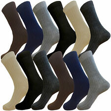 12 PK EXECUTIVE SOCKS COTTON DRESS SOCKS SIZE 10-13  MEN FORMAL COLOR THIN SOCKS